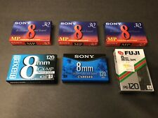 Lot Of Six 8mm Video cassette Tapes Unopened