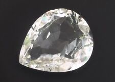 Big & Beautiful Colorless Tourmalined Quartz 24.25ct 25x20mm Pear Loose Gemstone