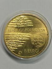 M5) Portugal 8 Euro 2005  60. Jahrestag Ende 2. Weltkrieg, vergoldet