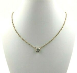 Details about  /DIAMOND  PENDANT NECKLACE 14K YELLOW GOLD HALLMARKED 0.84 CWT CHAIN INC