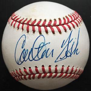 Carlton Fisk Autographed American League Baseball, BAS COA