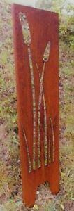 Garten Sichtschutz Wand Rost Windschutz Corten Stahl Deko rostig edelrost