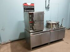 """""""Market Forge"""" N-Gas Self Contained Double Steamer & 25Gal Steam Jacketed Kettle"""