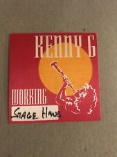 Backstage pass - Vintage - Kenny G - Tour - Cloth Working pass