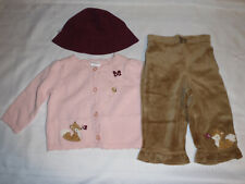 Gymboree Forest Trails Baby Girl 6-12 Month Sweater Pants Hat NWT Outfit