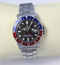 VINTAGE 1966 MEN'S ROLEX GMT-MASTER PEPSI STAINLESS STEEL BLACK DIAL 1675
