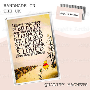 WINNIE THE POOH ✳ QUOTE ✳LARGE FRIDGE MAGNET ✳ GREAT CHRISTMAS / BIRTHDAY GIFT