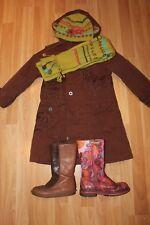 Wunderschöne NOLITA POCKET Braun 2in1 Jacke Mantel Felljacke Winterparker, Gr.11