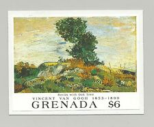 Grenada #1988 Van Gogh, Art, Trees 1v S/S Imperf Proof Mounted on Card
