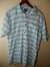 Patagonia Men's Shirt 7 Button Down Textured Organic Cotton Plaid Size XL