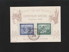 Germany Postwar Leipzig Spring Fair 1948 Set Memory Card w/ Special Cancel 6z