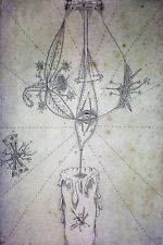 CANDLE AND INSECTS. ETCHING. NUMBER XIX-XXV. SIGNED JOAN PONÇ. SPAIN. 1966