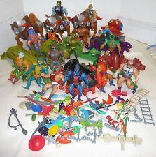 VTG.1980'S MIXED LOT MOTU HE-MAN & VILLIANS FIGURES,VEHICLES,ANIMALS & WEAPONS