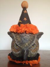 Bethany Lowe Halloween Wise Owl Sorcerer Container--Retired