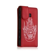 Shell cover case for lg optimus gt540 red color skull pattern + film