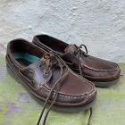 Sperry Top-Sider Men's 10.5 Mako Collection Brown Leather Boat Shoes