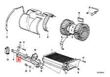 Genuine BMW E30 Cabrio Coupe Heater Radiator / Blower Pipe OEM 64111370932