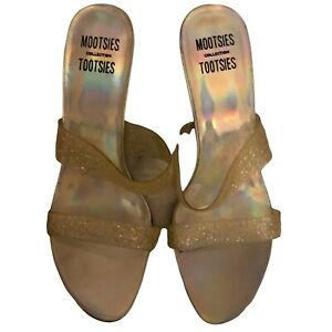 """Sandals Size 7.5 US """"Mootsies Tootsies"""" Brand """"Holographic Colors"""" Glitter Upper"""