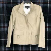 La Nouvelle Renaissance Women's Spring Fall  Jacket Cotton Nylon Blend Sz Lg