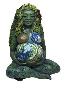 Gaia Gaea Millennial Mother Goddess Figurine Statue Animal Tree by Oberon Zell
