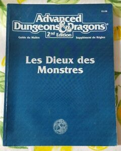 *TRES RARE* Advanced Dungeons and Dragons 2 - Les Dieux des Monstres - VF 1992