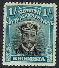 RHODESIA 1913 KGV ADMIRAL 1/- DIE II PERF 14