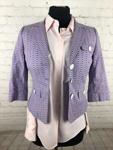Ann Taylor Loft  Women's Petite Purple Striped Blazer 2P $295
