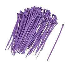 Self-locking Flexible Marker Label Cable Zip Ties Straps Purple 100 Pack