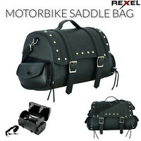 New Motorbike Motorcycle Leather Saddle Bag Pannier Waterproofed For UK Bikers