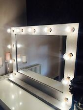 HERA VANITY - Hollywood Vanity Mirror With Lights (Silver Glitter) 860cm x 690cm