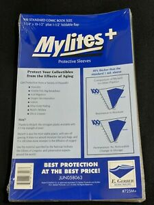 100 - Mylites+ Standard 1.4-Mil Mylar Comic Book Bags by E. Gerber - 725M+