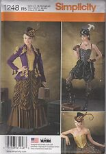 From UK Sewing Pattern Fancy Dress Steampunk Goth 14 - 22 US #1248