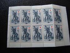 FRANCIA - yvert y tellier carnet cruz roja 1955 n (Y2) french