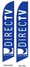 TWO DirectTV Blue Swooper Feather Flag Sign
