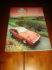 1980 TVR TASMIN - SPORTS CAR  ***ORIGINAL 1980 ARTICLE***
