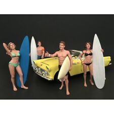 Surfers 4 Piece Figure Set for 1 24 Scale Models by American Diorama