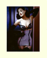 DITA VON TEESE IN STOCKINGS BURLESQUE PP MOUNTED 8X10 SIGNED AUTOGRAPH PHOTO