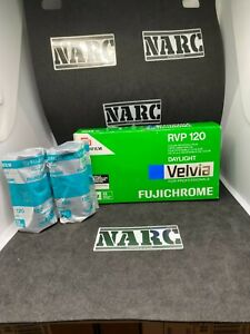 2x Fujichrome Velvia 50 Professional 120 Film expired film