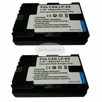 2X Fully Decoded LP-E6 LPE6 Battery for Canon EOS 7D 60D 5D Mark II III 2 3 BGE6