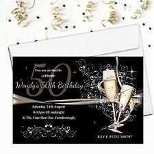 Personalised Birthday Invitations N183 18th 21st 30th 40th 50th 60th Any Age
