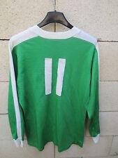 VINTAGE Maillot PUMA porté n°11 cousu coton shirt trikot 80' SOPEMEA CEAT vert M