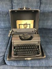 1940's Underwood Universal portable Typewriter with Case Booklets Steam Punk