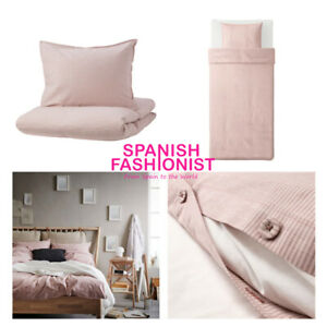 IKEA BERGPALM Quilt cover and pillowcase, pink/stripe 150x200 / 50x60 cm