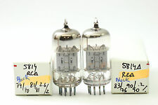 2 X 5814A TUBE RCA BRAND TUBE BLACK PLATES. MATCHED PAIR CRYOTREATED CH28V5