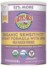 Earth's Best Organic Sensitivity Infant Formula With Iron 2x 35 Oz EA Ship