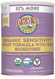 35oz Earth's Best Organic Low Lactose Sensitivity Infant Formula Iron 04/18/21