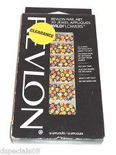 REVLON Nail Art 3D Jewel Appliques Wild Flowers VINTAGE VIBE 03  18 Appliques