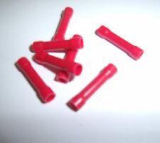 (100) Wire Butt Connectors Red Vinyl 22-18 Gauge AWG Ga Car Audio Terminals New