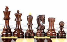 "Rose wood Zagreb Staunton Wooden Chess Set Pieces King size 3.75"" House of Chess"