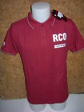 polo homme, à manches courtes  ROTWILD RCO new stripe , bordeaux  en S/M